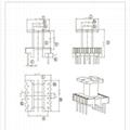 EE19 定製定做開關電源高頻變壓器打樣 立式 4+6 DC DC  4