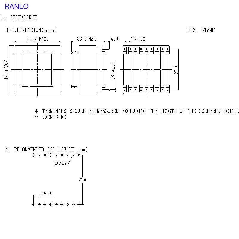 EE4215  8+8 9+9 電源變壓器脈衝變壓器高頻變壓器 3
