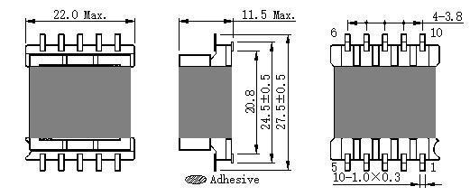 EFD20  5+5 貼片非共用端子開關電源高頻變壓器 生產廠家 2