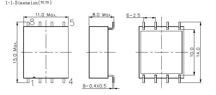 環形貼片變壓器  11*15mm  4+4pin 4