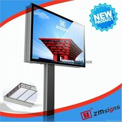 ZM-M001 Led Advertising Billboard Mega Light Box Led Display Billboard Best