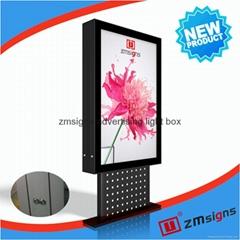 ZM-208 Scrolling advertising board light box signboard factory price post board