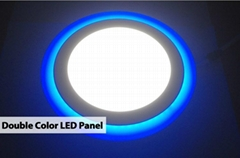 86 - 265V AC Double Round Led Panel Light 12 + 4 watt Wiht AL and PVC