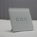 Crystal Glass Panel Touch Switch Touch Light Switch UK Standard 4