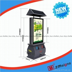 ZM-TB02 Trash bin light box