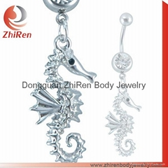 stainless steel dangled item body jewelry, belly ring, navel ring