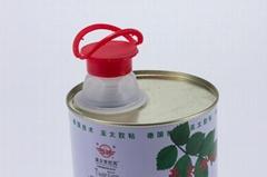 42mm PE/PP square tin can bottle spout push cap