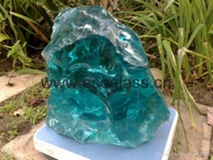 Light blue glass rocks