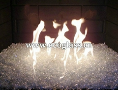 Fire pit glass, fireplace glass