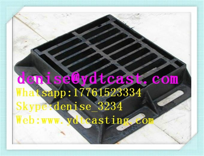 Gully grating d400 type cast iron manhole cover road gully