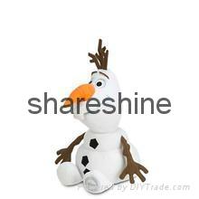 2015 hot Frozen soft plush(stuffed) snowman olaf toy