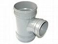 collapsible core pipe fitting mold