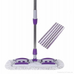 360° Spin Flat Mop-HM0380 with two Mop
