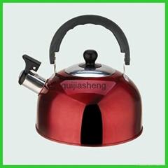 colourful hemispherical stainless steel water kettle