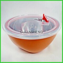 不鏽鋼彩色帶蓋保鮮碗
