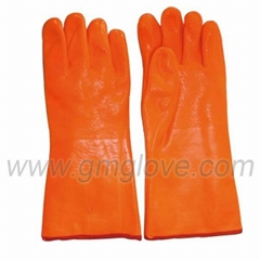 Winter Cold-proof Fluorescent PVC Coated Gloves