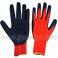 Nylon latex palm coated gloves