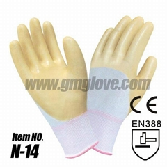 13G Polyester Nitrile Rubber Coated Glove