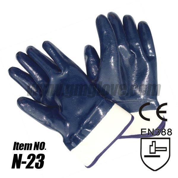 Safety Cuff Cotton Nitrile Industrial Gloves 1