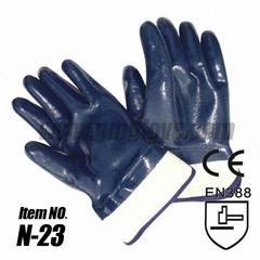 Safety Cuff Cotton Nitrile Industrial Gloves