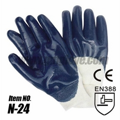 Nitrile Coated Cotton Gloves,Knited wrist