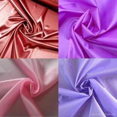 210t linning taffeta fabric pu coated