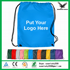 Nylon polyester drawstring backpack