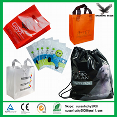 Custom HDPE LDPE printed plastic bag
