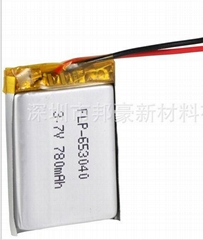 Quality goods sales 3.7 v 780 mah lithium-ion polymer rechargeable batteries