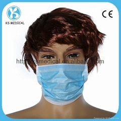 disposable nonwoven surgical face mask
