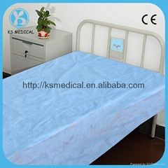 Disposable medical nonwoven bed sheet