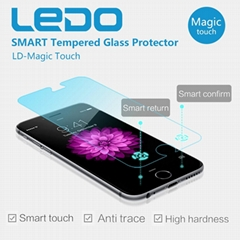 Ledo Magic finger smart tempered glass screen protector new in world
