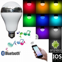 Hot sale LED light bulbs shape Wireless Bluetooth Speaker With RF Remote Control
