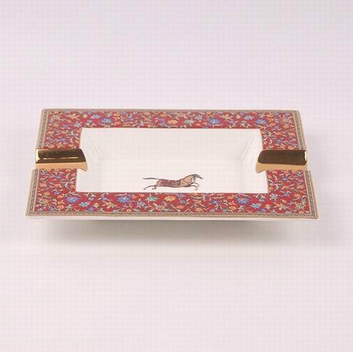 骨瓷愛馬仕大煙缸,奢華家居KTV裝飾擺件禮物贈送,唐山高檔骨質瓷 1