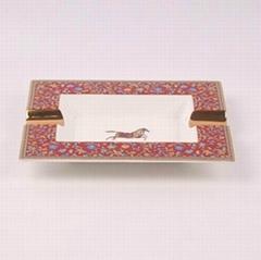 骨瓷愛馬仕大煙缸,奢華家居KTV裝飾擺件禮物贈送,唐山高檔骨質瓷