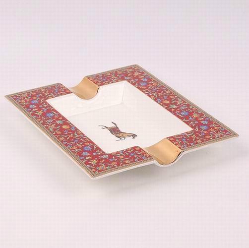 骨瓷愛馬仕大煙缸,奢華家居KTV裝飾擺件禮物贈送,唐山高檔骨質瓷 2