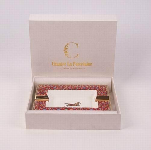 骨瓷愛馬仕大煙缸,奢華家居KTV裝飾擺件禮物贈送,唐山高檔骨質瓷 4