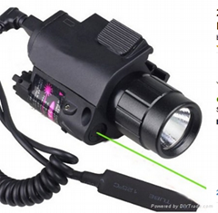 Green Dot Laser Sight W/ Cree Flash Light Combo for Pistol/ Gun 20mm Rail