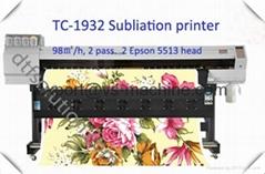 Inkjet ink printer using sublimation ink