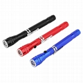 Led Pen Style Flashlight Telescopic Torch Magnetic Pick Up