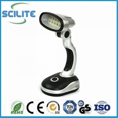 USB and Battery Powered 12 LED Desk Lamp book Light Head Adjustable