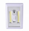 Battery powered SUper bright COB night light switch with magnetic wall lamp 1