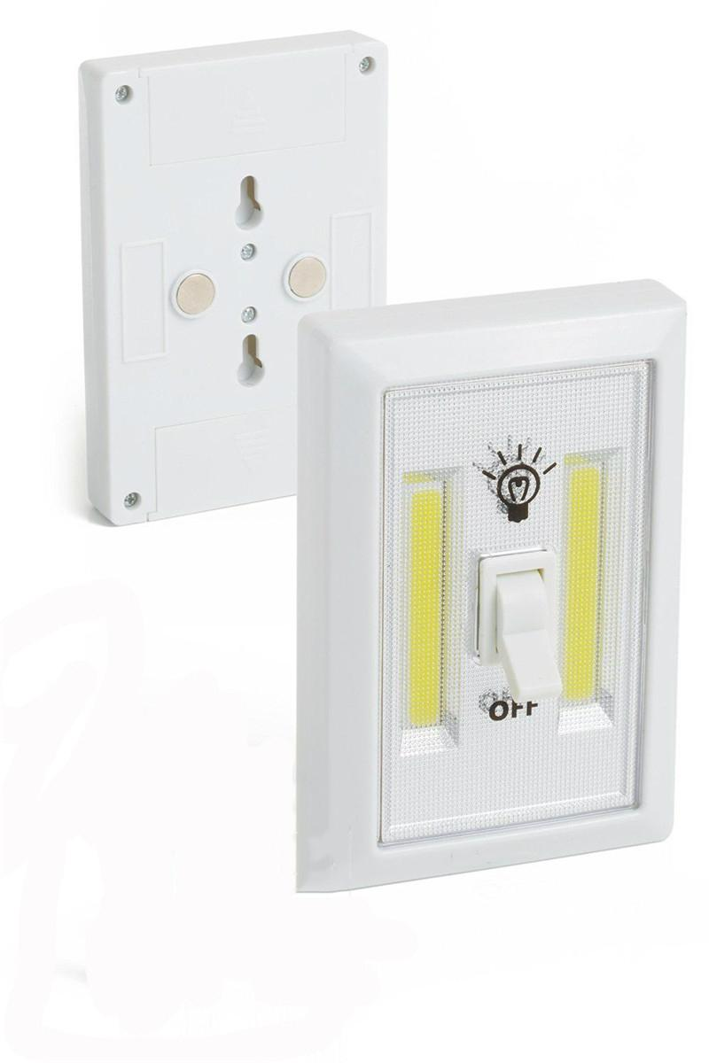 Battery powered SUper bright COB night light switch with magnetic wall lamp 3