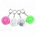 Mini Personal Alarm LED Security Flashlight with Key Chain 120db Security Alarm