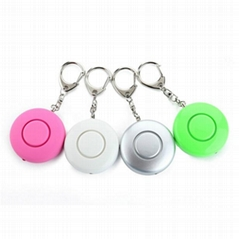 Mini Personal Alarm LED Security Flashlight with Key Chain 120db Security Alarm