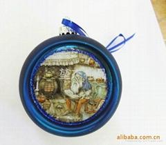玻璃彩繪聖誕球(可定製)