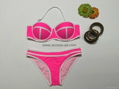brand new ladies sexy bikini set push up cup fashion design custom made
