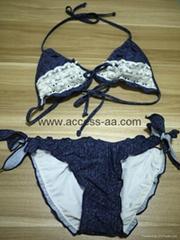 Hot Selling Ladies Bikini Denim Effect