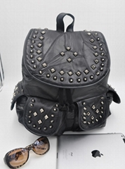 Women's fashion handbags black backpack