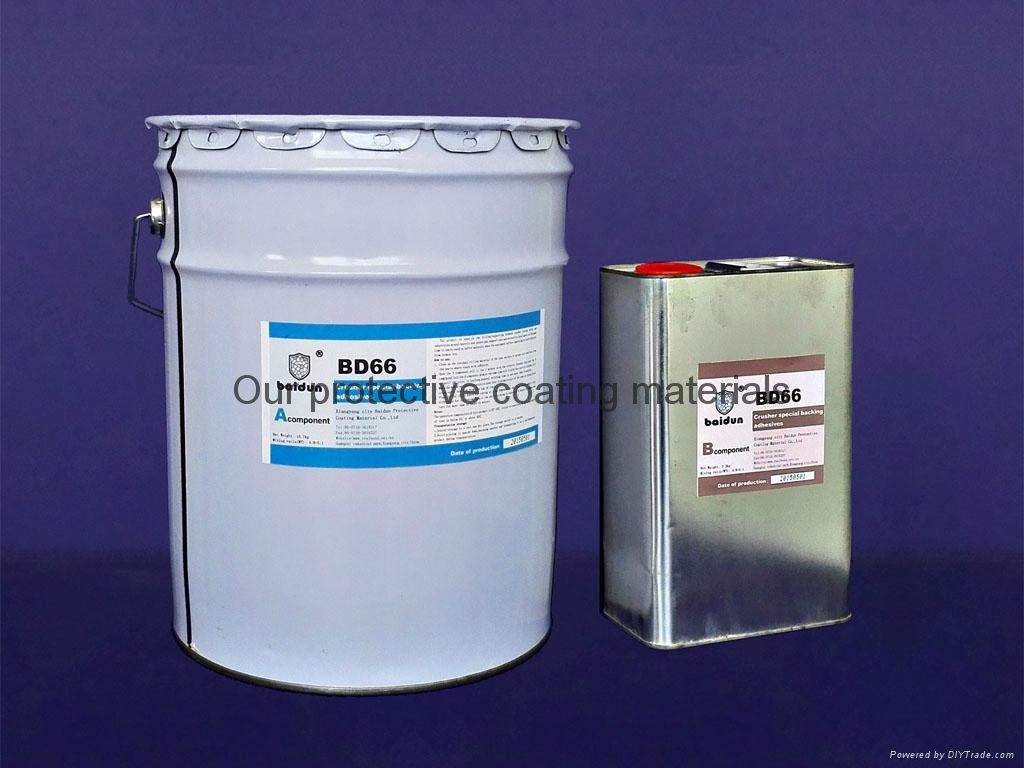 crusher special backing adhesives,liner plate repair filling material